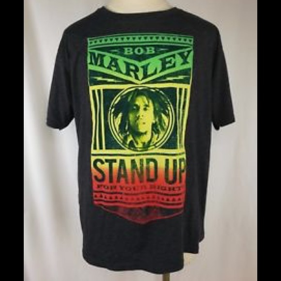 a268e76df Zion Rootswear Shirts | Bob Marley Stand Up For Your Rights Tee ...